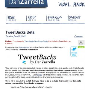 Tweetbacks