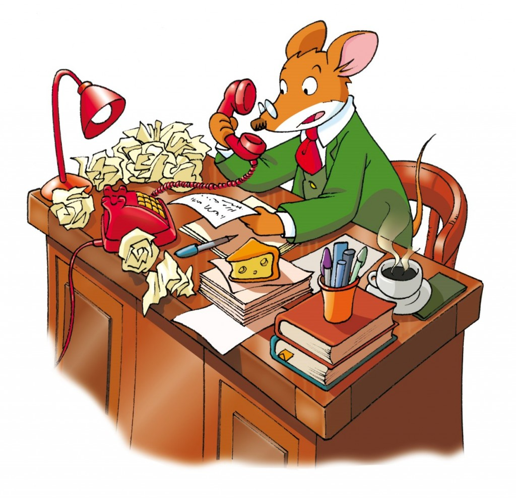 Geronimo-Stilton-At-Desk