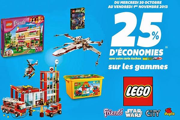 promo-auchan-LEGO 25 pourcent carte fidélité